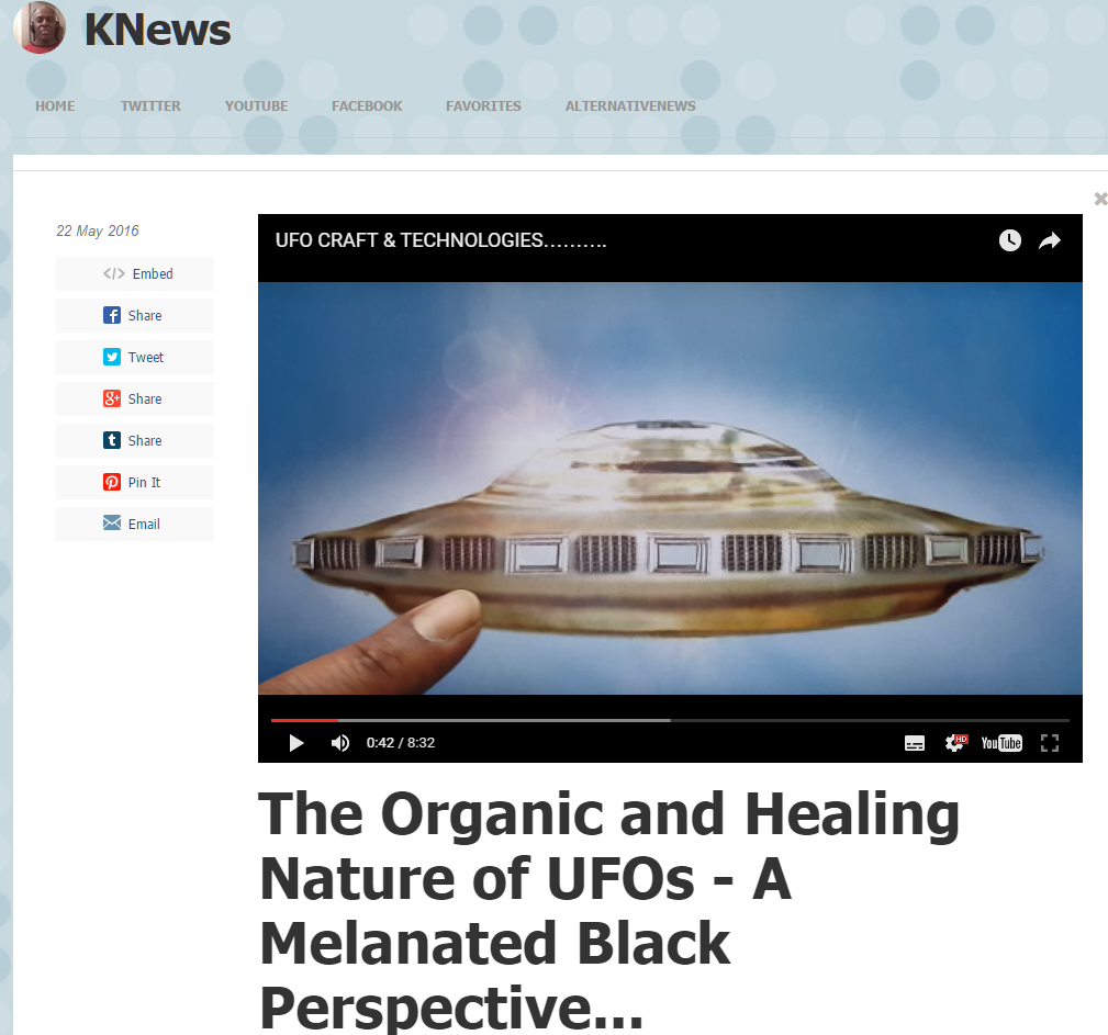 The Organic and Healing Nature of UFOs - A Melanated Black Perspective...