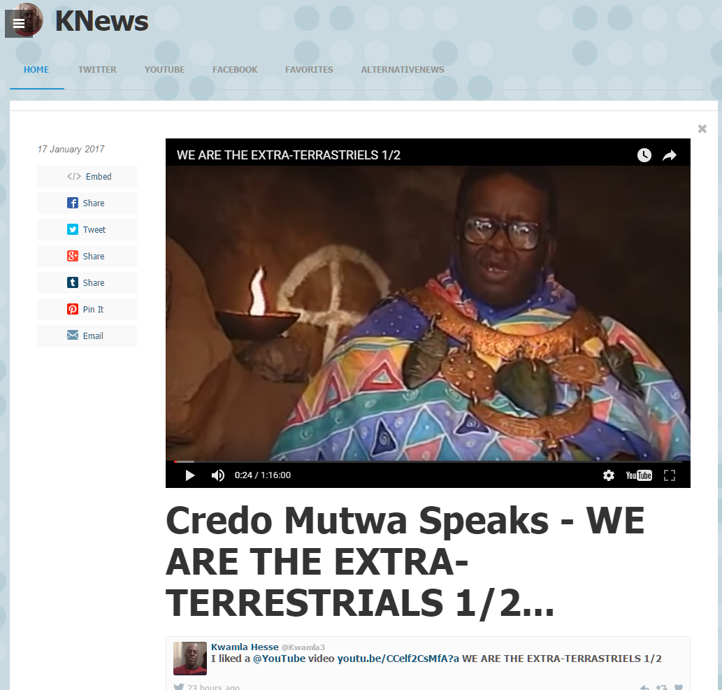 Credo Mwtua Speaks about ETs in Africa