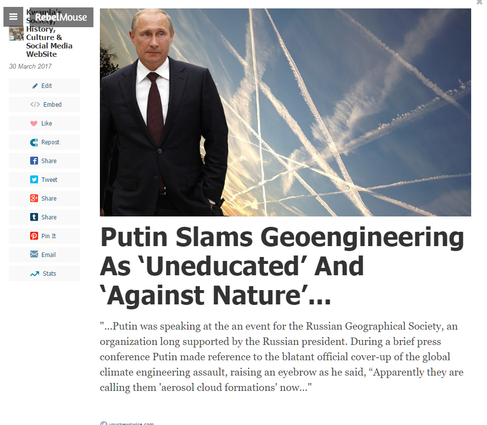 Putin on ChemTrails